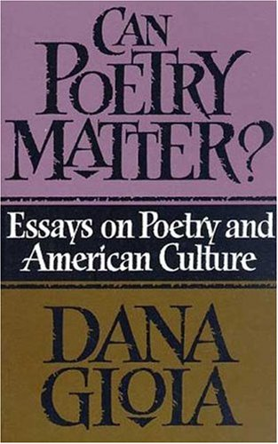 Does Poetry Matter Essay