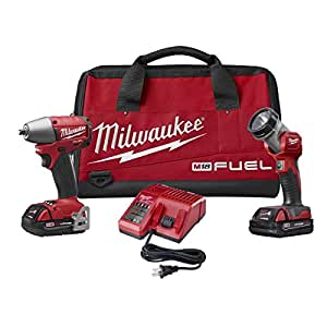 Milwaukee 2795-22CT M18 Fuel 3/8 Inch Impact Wrench Combo Kit