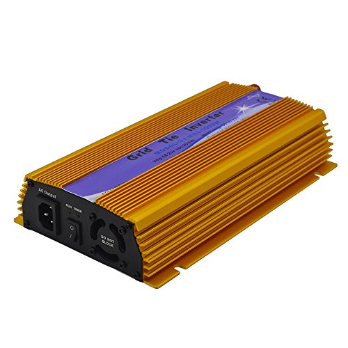 EACO TECH 1000W Grid Tie Inverter High Efficiency Pure Sine Wave Micro On Grid Inverter for 18V 24V 36V Solar Panel 90-140VAC Output Voltage (20-45VDC) by EACO TECH