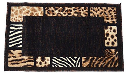 Animal Collection Zebra Rug (Animal Skin Prints Patchwork Leopard Zebra Border Door Mat Rugs 4 Less Collection Area Rug R4L 73 (2'X3'4