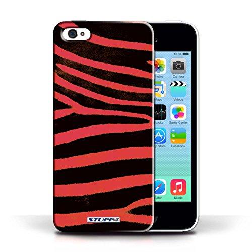 Kobalt® protector duro de nuevo caso / cubierta para el Apple iPhone 5C | Rojo Diseño | Animal de la cebra de la piel/de impresión colección