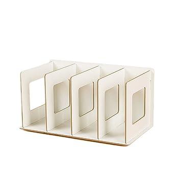 Fokom - Estante para CD, DVD o libro, archivador para carpetas, madera