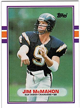 3ed02a2743a 1989 Topps   Traded San Diego Chargers Team Set with Jim McMahon   Anthony  Miller RC