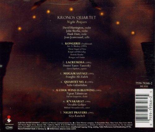 Kronos Quartet Night Prayers Amazon Com Music