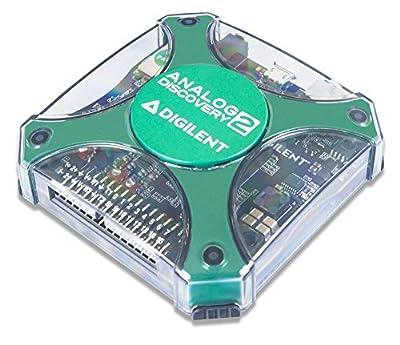 Digilent Analog Discovery 2 100MSPS USB Oscilloscope, Logic Analyzer and Variable Power Supply - 410-321