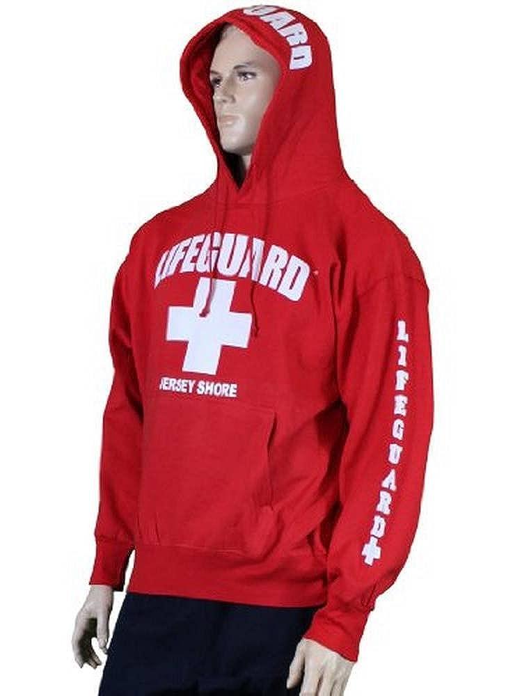 NYC FACTORY Lifeguard Jersey Shore NJ Life Guard Sweatshirt Red