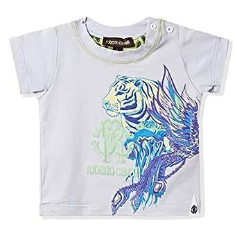 Roberto Cavalli Junior Multi Color Round Neck T-Shirt For Boys