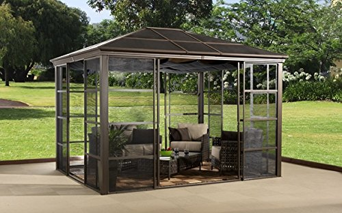 Beau This Hard Top Gazebo Boasts A 12u0027x14u0027 Size And Is A Beautiful Way To Expand  Your Familyu0027s Outdoor Living Space. It Comes Complete With 4 Sliding Doors  And A ...