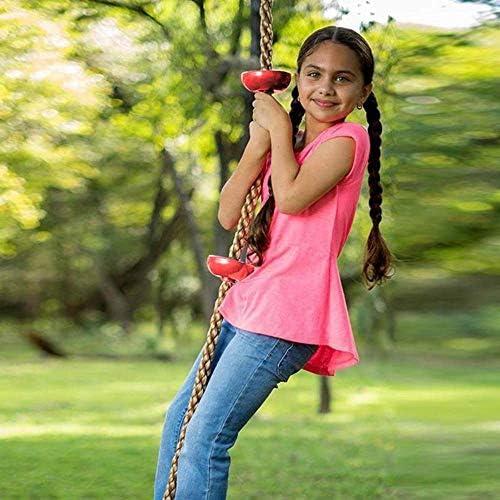 guomao 面白い子供クライミングロープスイングディスククライミングロープ子供キッズガーデン遊び場裏庭屋外スイングゲーム機器のおもちゃ