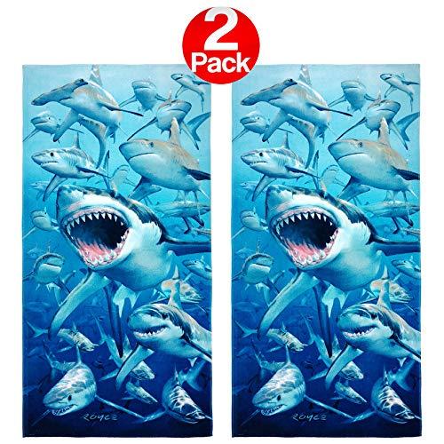 Kaufman - Hungry Sharks Beach Towel (106042) - 2 Pack Set -