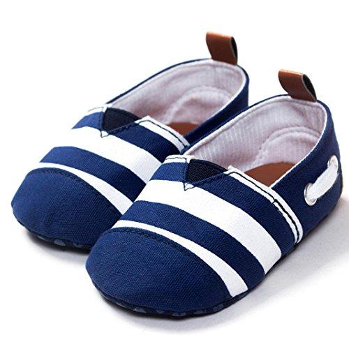 Sharemen Soft Sole Shoes Infant Boy Girl Prewalker Moccasin (0-6 Months, Blue)