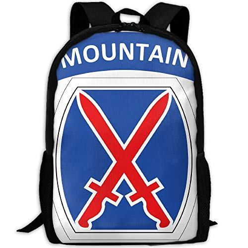 ZQBAAD 10th Mountain Division Climb to Glory Luxury Print Men and Women's Travel Knapsack