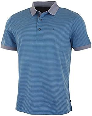 Calvin Klein Golf Men's Diverge Polo Shirt – US XL – Opal/Axel