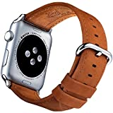 Apple Watch Band 42mm – iWatch Bands 42mm Apple Watch Band Men & Women for Series 3 Series 2 Series 1 Nike Hermes and Sport Edition by Innoavations – Matte Brown Leather