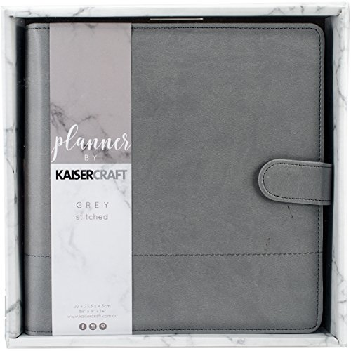 Kaisercraft Gray W/Stitched Accents Journal Planner
