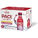 PACt Water, Variety Pack, Power of 50 Cranberries, Naturally Sweetened, 10 Calories per 16 Ounce Bottle (Pack of 12)