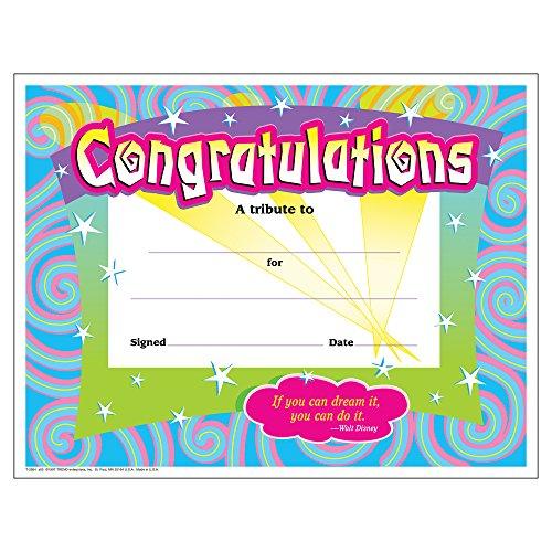 Trend Enterprises Certificate of Congratulation (TEPT2954)