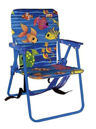 JGRC Kids Beach Chair With Backpack Strap, Small,Colors May Vary