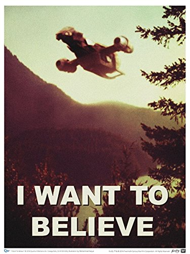 QMX Firefly I Want to Believe Poster by QMX