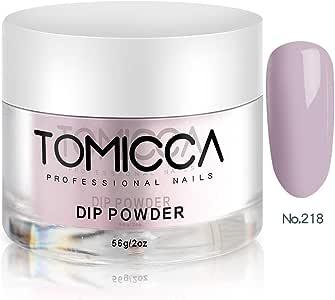 TOMICCA Nail Dipping Powder Nail Art Dust Powder (Purple-gray)