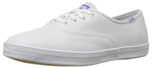 eac8ba9a6 Keds Champion - Zapatillas de Piel para Mujer, Color Blanco: Amazon ...