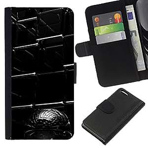 KLONGSHOP // Tirón de la caja Cartera de cuero con ranuras para tarjetas - Resumen Cubo - Apple Iphone 5C //
