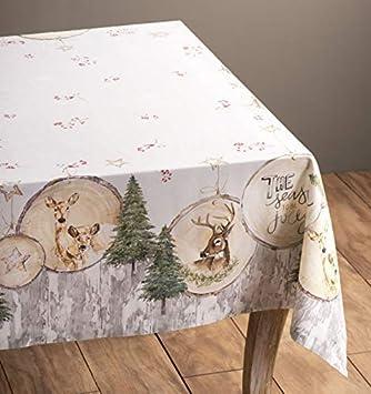MJY Manteles, Oferta de Navidad - Mantel de algodón Mountain Life 54 pulgadas por 54 pulgadas. Perfecto para navidad: Amazon.es: Bricolaje y herramientas