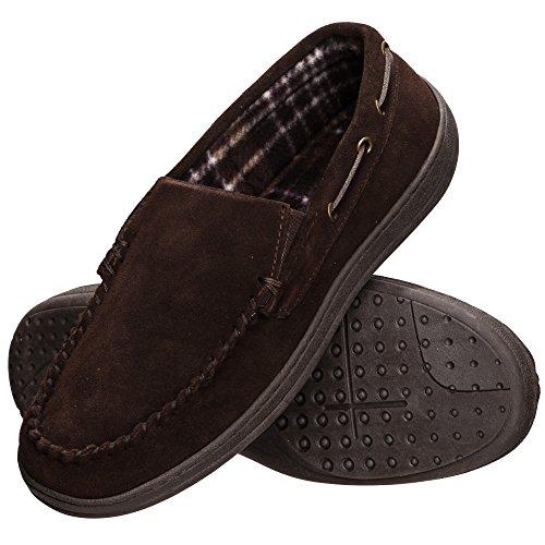 Rockport Men's Memory Foam Suede Slip On Indoor/Outdoor Venetian Moccasin Slipper Shoe