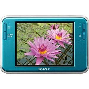 Sony Cybershot DSC-T2 8MP Digital Camera with 3x Optical Zoom (Blue) by Sony