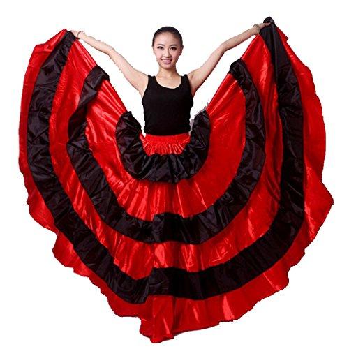 [Spanish Bull Dance Skirt Spanish Skirt Flamenco] (Spanish Dancing Costumes For Women)