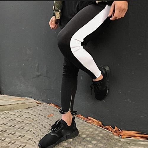 Pantaloni Elasticizzati Skinny Di Con Mode Sportivi Da Moda Felpa Uomo Tuta Marca Comodi Coulisse Casual Alla Bianca FUqFrxw