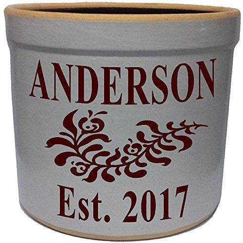 2 Gallon Personalized Stoneware Crock - Wedding ()