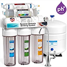 Express Water ROALK10DCG 10 Stage Home Drinking Filtration System Alkaline pH+ Reverse Osmosis 100 GPD RO Membrane, Clear Housing, Deluxe Chrome Faucet, Pressure Gauge, BPA Free