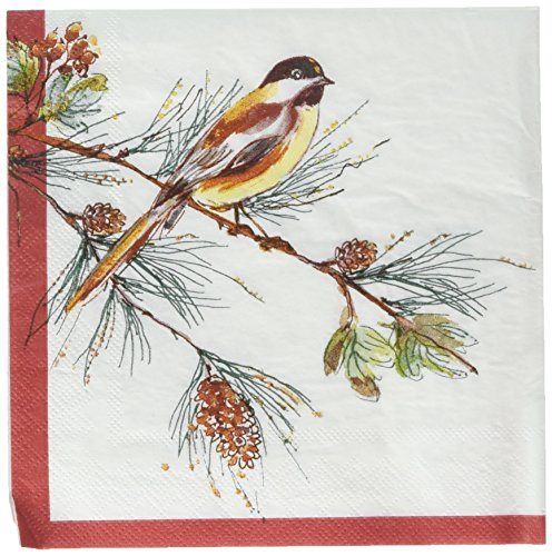 """Price comparison product image C.R. Gibson 20 Count,  3-Ply,  Paper Lunch / Dessert Napkin,  By Lenox,  Measures 6.5"""" x 6.5"""" - Winter Song"""