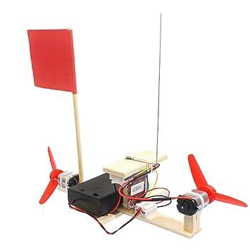 B Blesiya Modelo de Barco de Turbina de Viento Teledirigido DIY Ciencia Juguetes Educativos