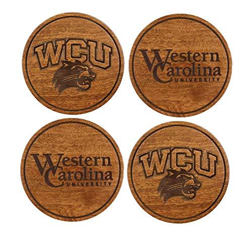 Western Carolina University Coasters (Variety Pack) (Cherry Wood) ()
