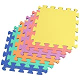 We Sell Mats 24 Square Foot Multi-Color EVA Foam Mat with Free Borders