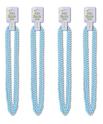 Beistle S50569LBAZ4, 24 Piece Baby Shower Beads, 33