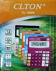 calculadora colorida 12 digitos display grande auto power colorida cores sortidas