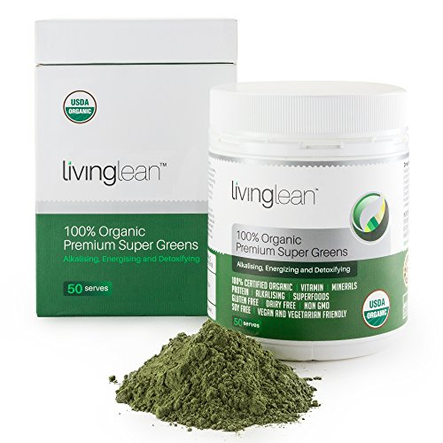 SUPER GREENS powder to Alkalize, Energize & Detoxify Your Body - Consistently Tasty - Organic Superfood Ingredients With Chlorella, Spirulina, Spinach, Alfalfa, Barley Grass & Wheat Grass - 50 (Kyo Green Powder)