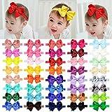 40pcs Baby Girls Grosgrain Ribbon Hair Bows