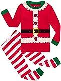 shelry Girls Christmas Pajamas Big Boys Pjs Sleepwear Kids Clothes Stripe Pants Set Size 10