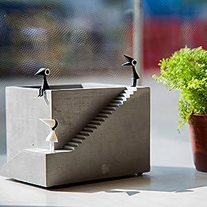 Amazon.com: YOURNELO Cement Creative Monument Valley Flower Plant ...