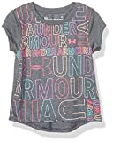 Under Armour Girls' Toddler Basic Short Sleeve Graphic Tee Shirt, Pitch Gray-S19, 3T