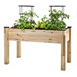 Cheap CedarCraft Elevated Cedar Planter (23″ X 49″ X 30″) – Grow Fresh Vegetables, Herb Gardens, Flowers & Succulents. Beautiful Raised Garden Bed for a Deck, Patio or Yard Gardening. No Tools Required.