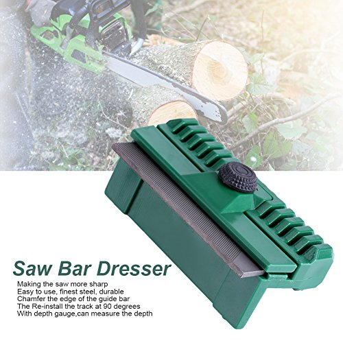 11×6×4cm Universal Chainsaw Bar Rail Dresser Fine Steel Chainsaw Chain Guide Bar Rail Dresser Lawn Garden Tool by Yosoo