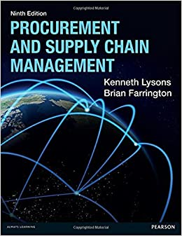 Book Procurement & Supply Chain Management, 9th ed. by Kenneth Lysons (2016-05-22)