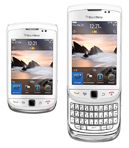 BlackBerry Torch 9800 Unlocked GSM Slider Cell Phone w/Keyboard + Touchscreen and Optical Trackpad - White