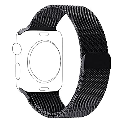 OROBAY Replacement Band for Apple Watch, Stainless Steel Mesh Loop Magnetic Closure Clasp Apple Watch Wristband Strap for Apple iWatch Sports&Edition …