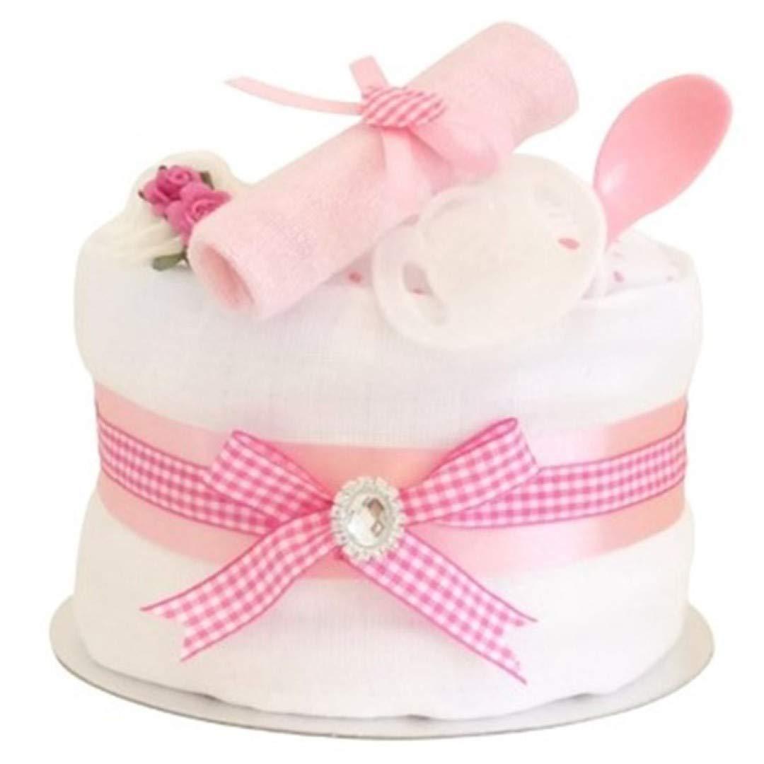 Signature Rose Single Tier Filles Couche Moule à gâteau/panier de bébé/bébé Douche Cadeau idées/maternité Quittent/cadeau de naissance/envoi rapide Pitter Patter Baby Gifts